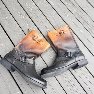 Gorgeous Leather Western Grunge Boot
